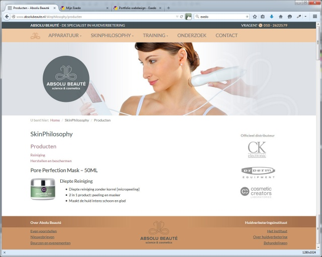 Website Absolu Beauté